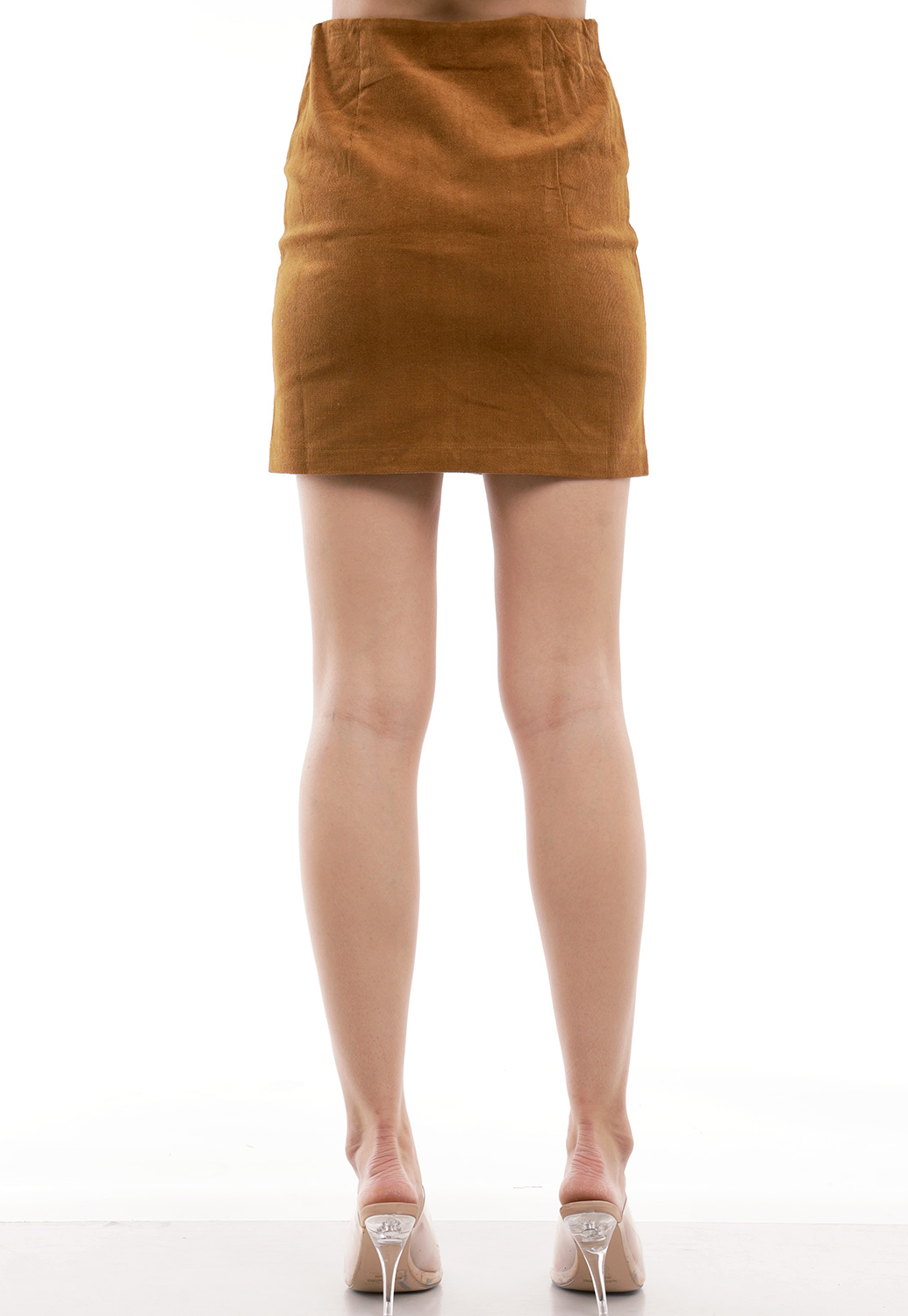 Corduroy Zip Up Skirt