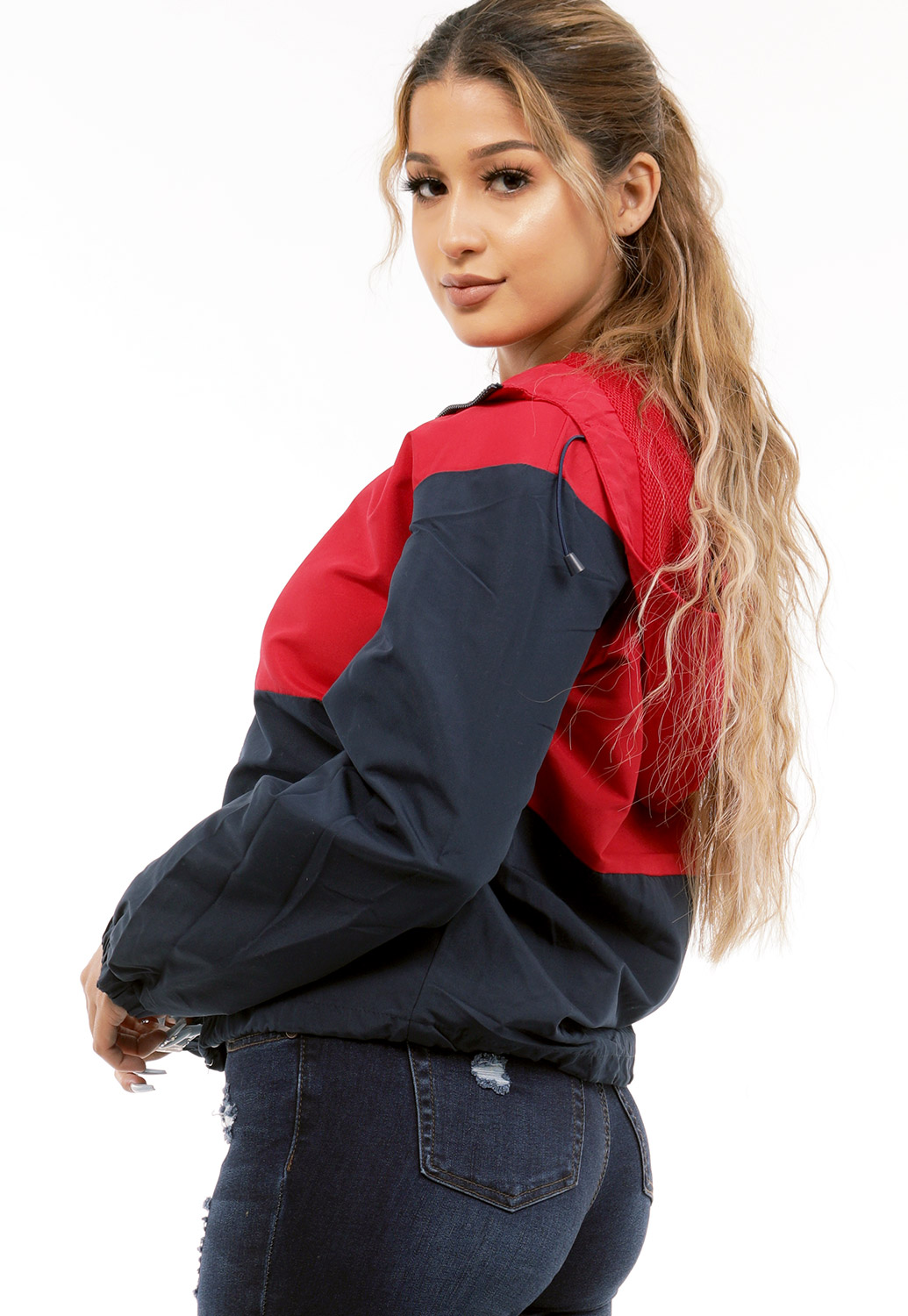 Zip Up Colorblocked Windbreaker