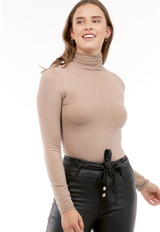Turtle Neck Knit Top