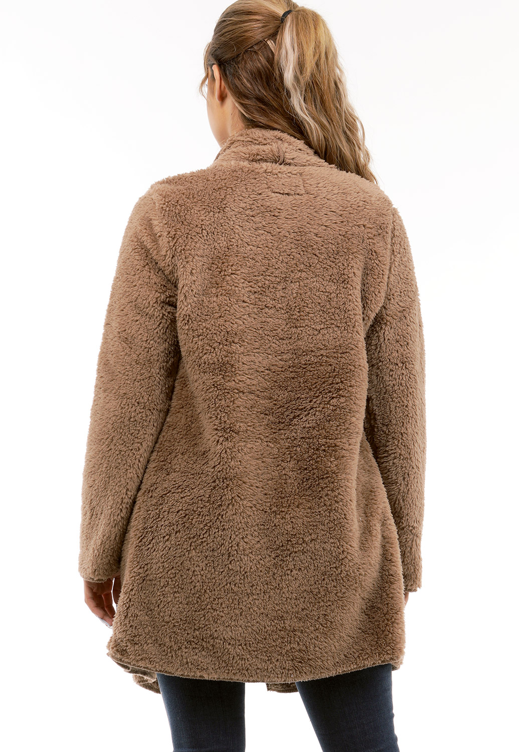 Faux Shearling Open Cardigan