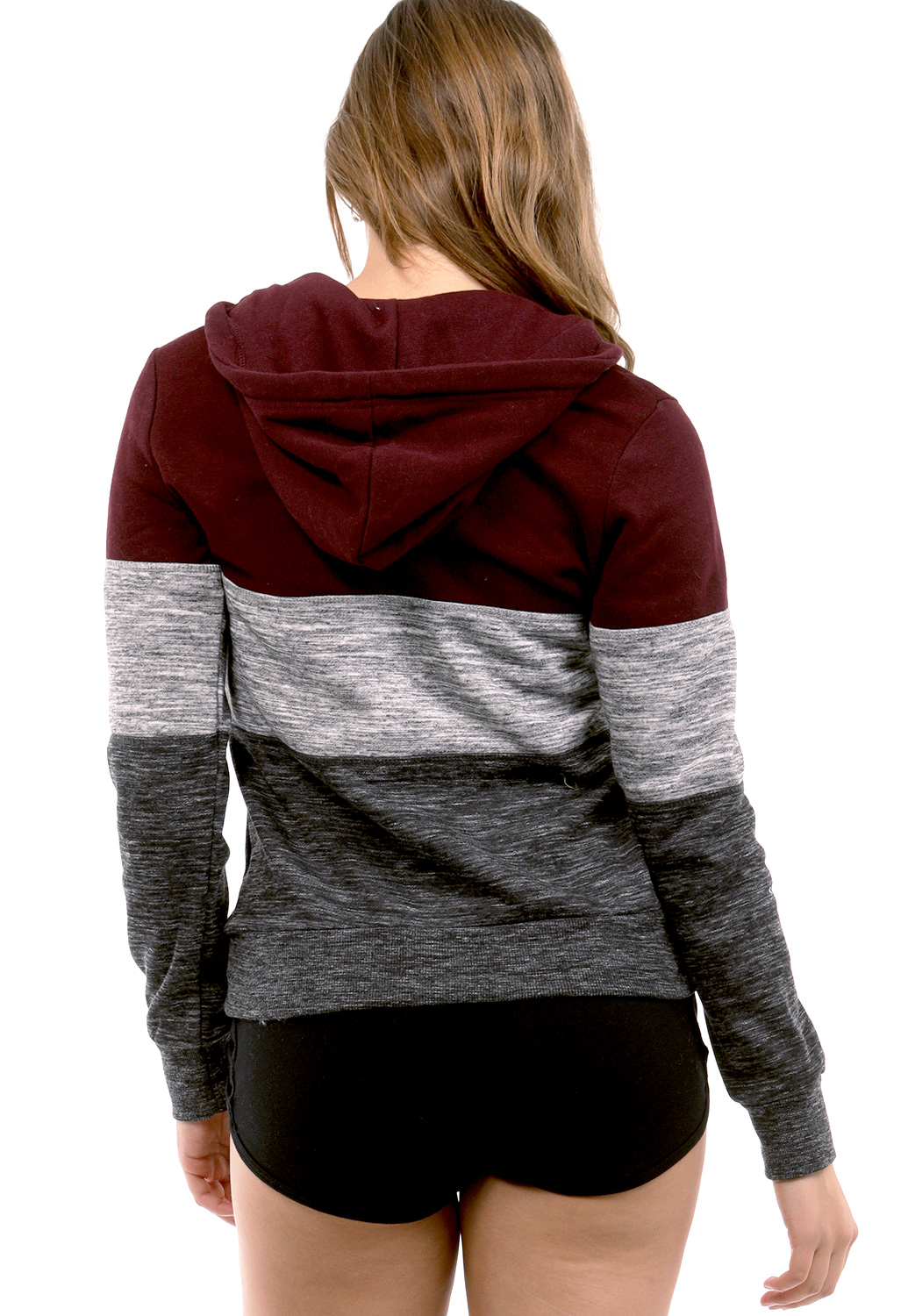 Hooded Colorblocked Sweater