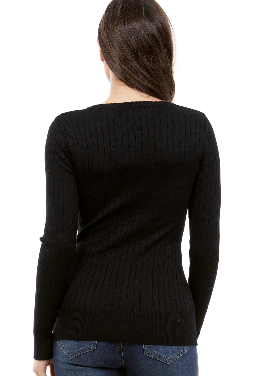 Cable V Neck Knit Sweater