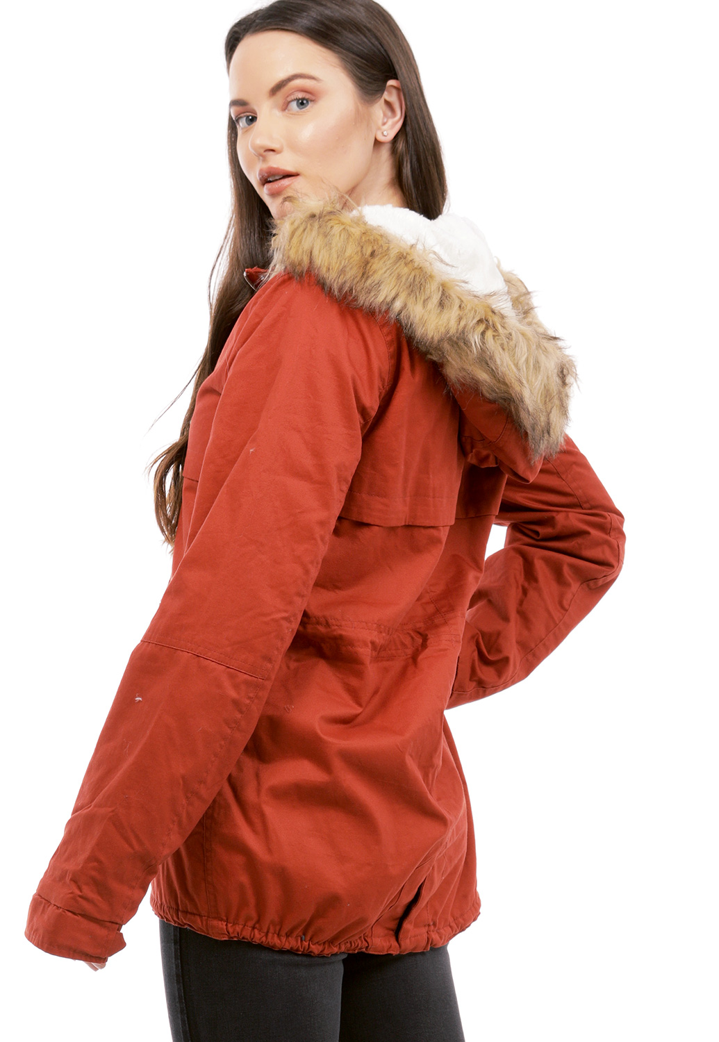 Faux Fur Utility Jacket