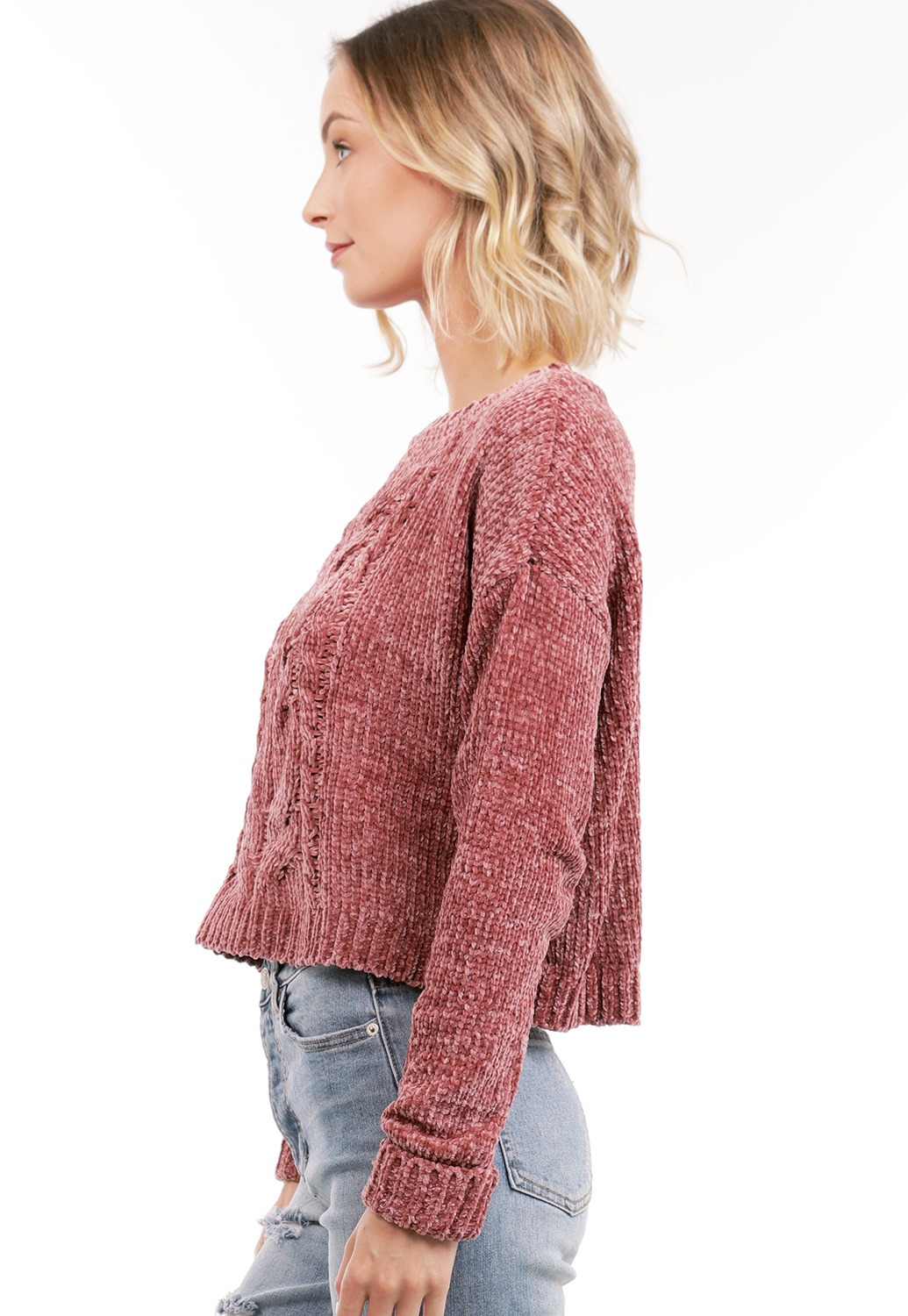 Faux Shearling Sweater