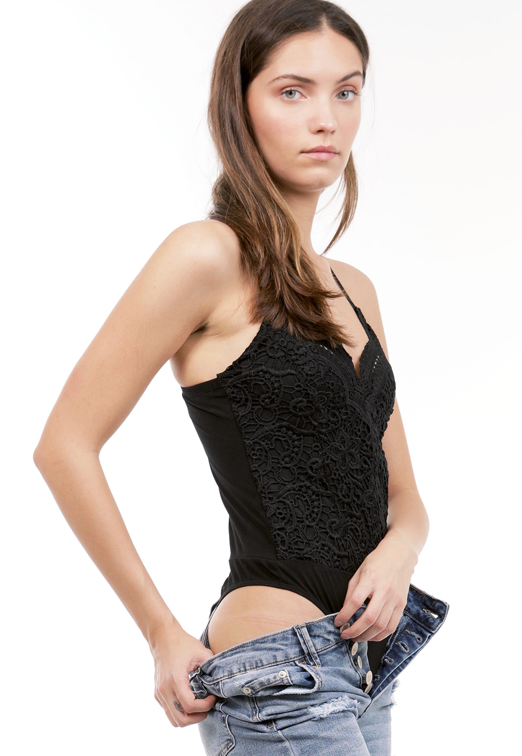 Crochet Trim Bodysuit
