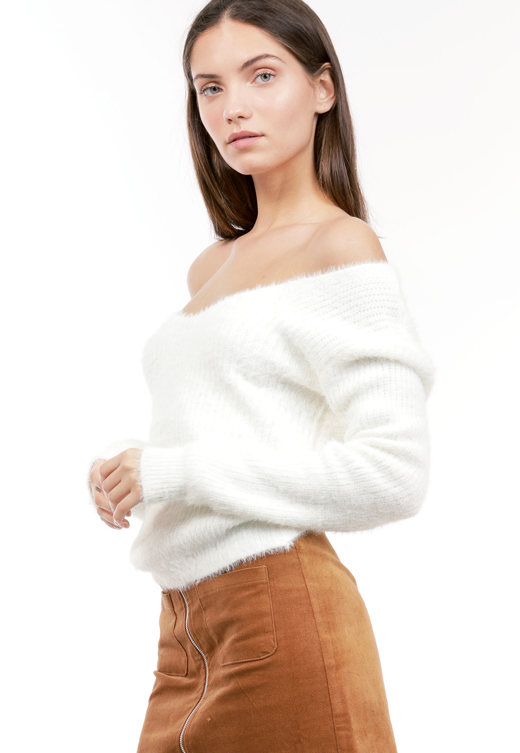 Fuzzy Twist Back Top