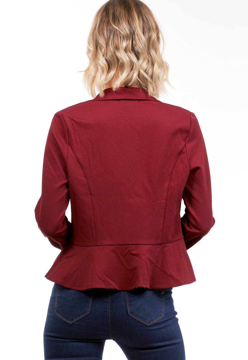Zip Up Flare Hem Jacket