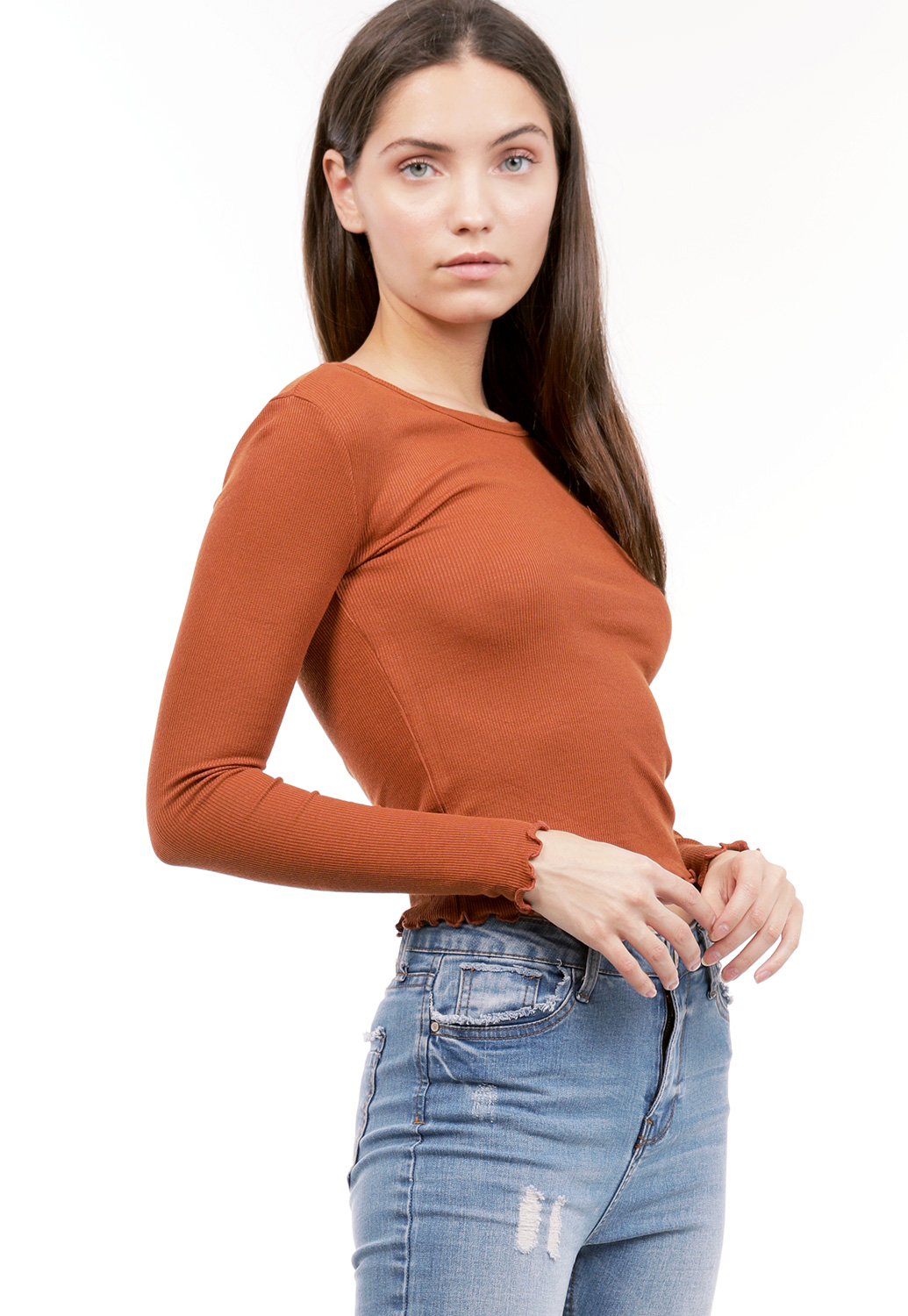 Knit Lettuce Edge Top