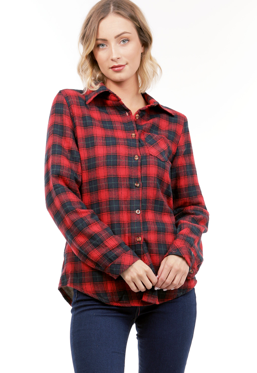 Plaid Faux Fur Flannel