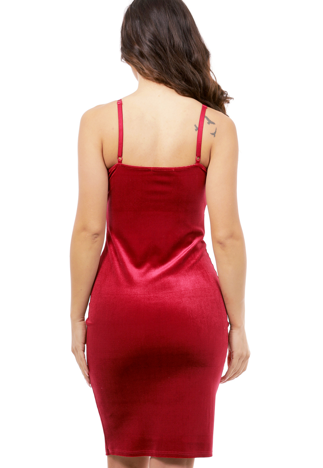 Velvet Mini Bodycon Dress