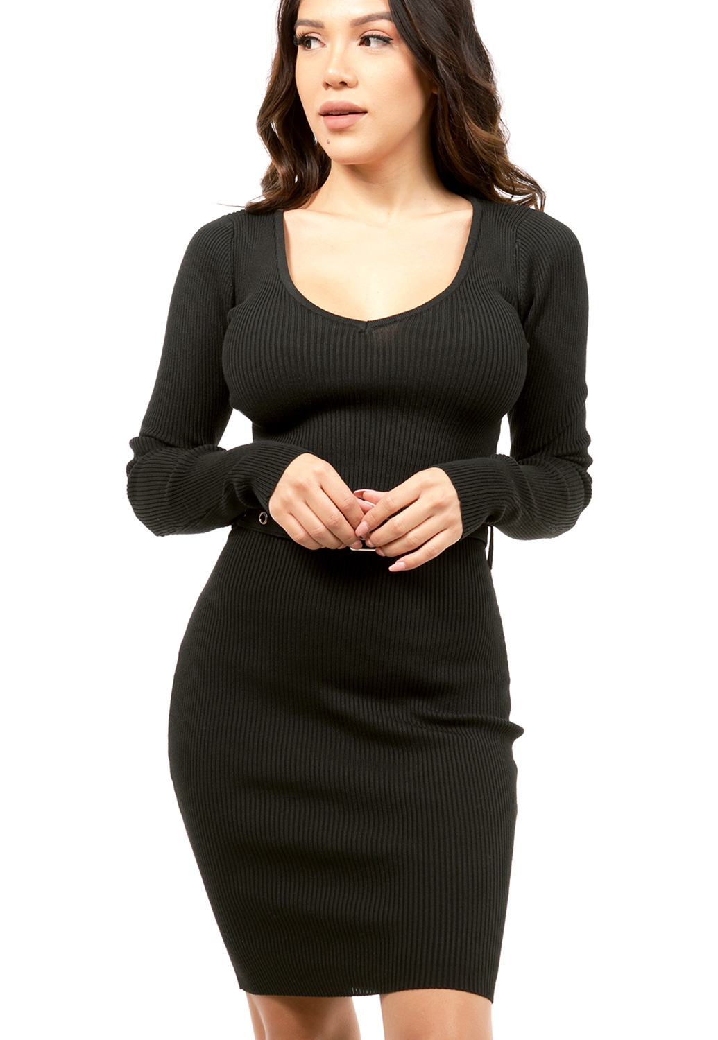 Knit Ribbed Bodycon Dress