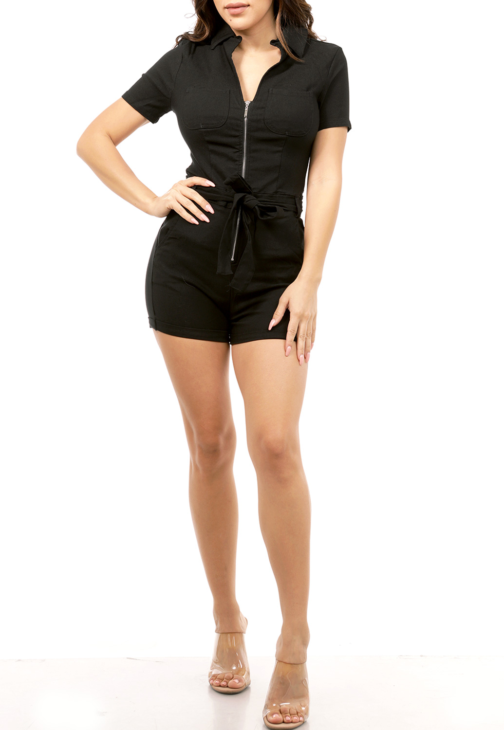 Zipper Up Romper