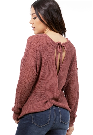 Tie Back Knit Sweater