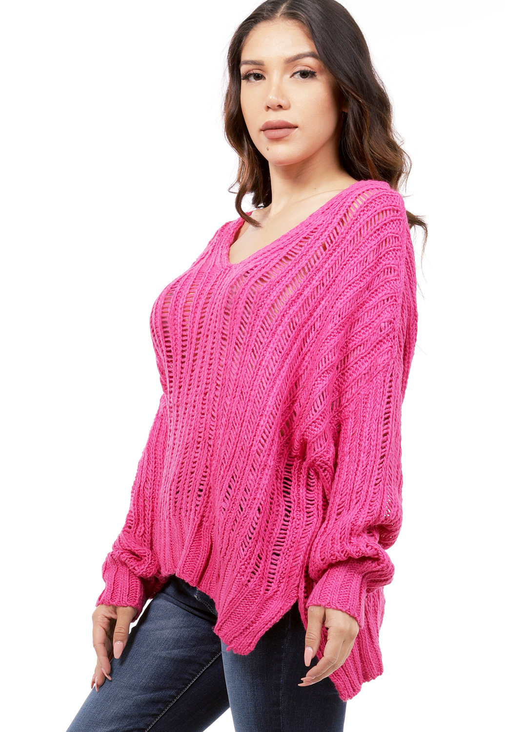 V-Neck Knit Sweater