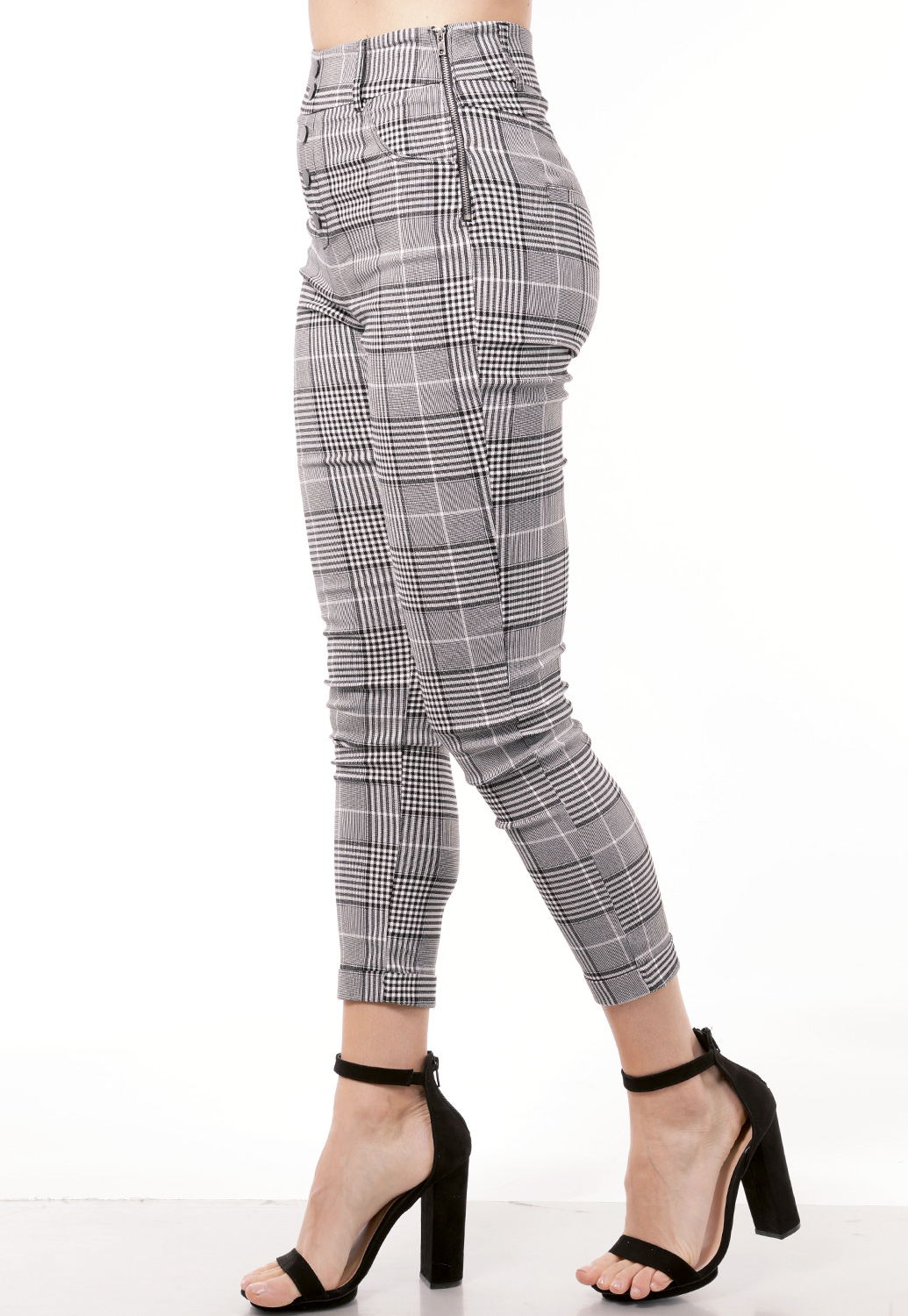 Glen Plaid Dressy Pants