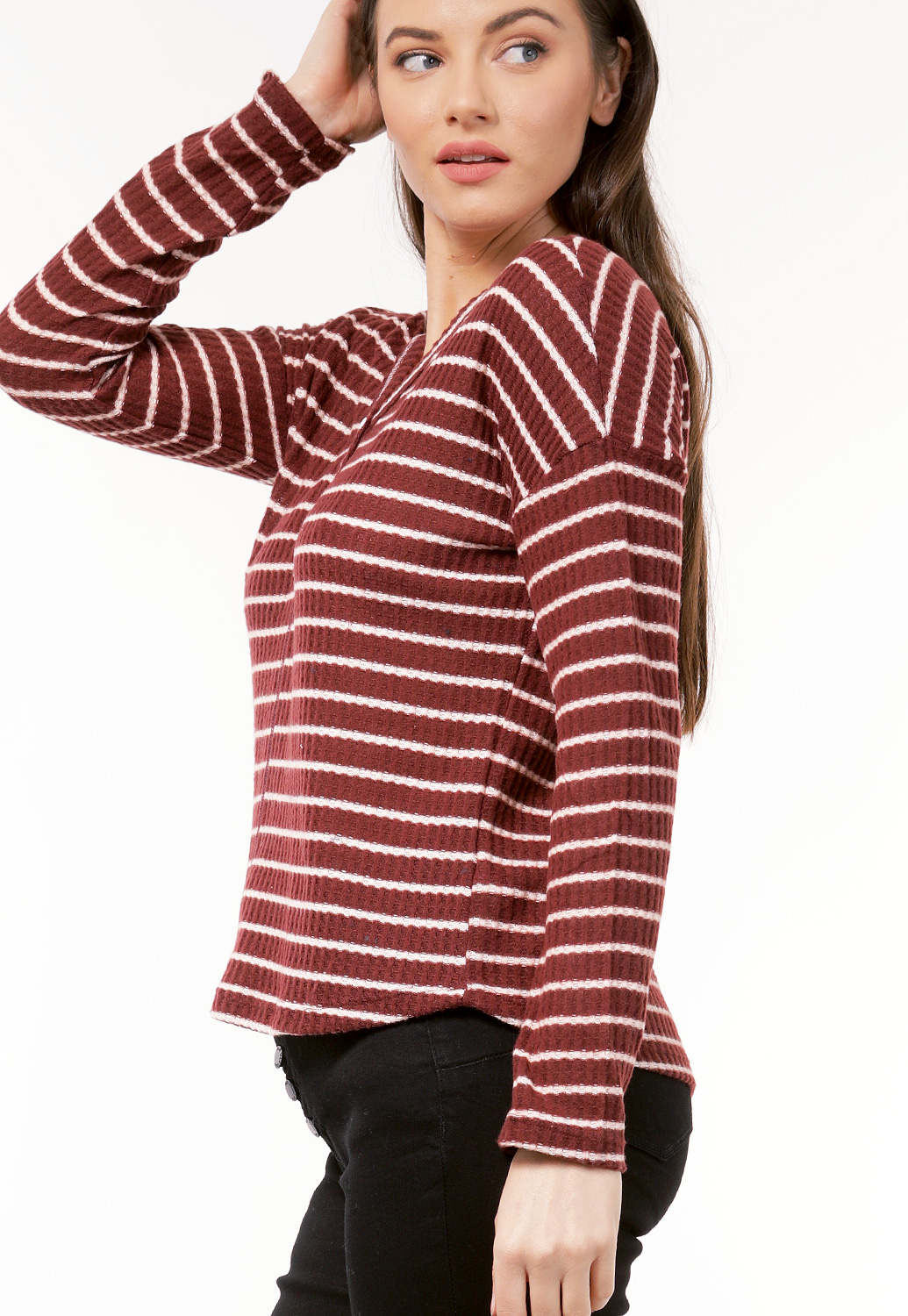Striped Knit Casual Top