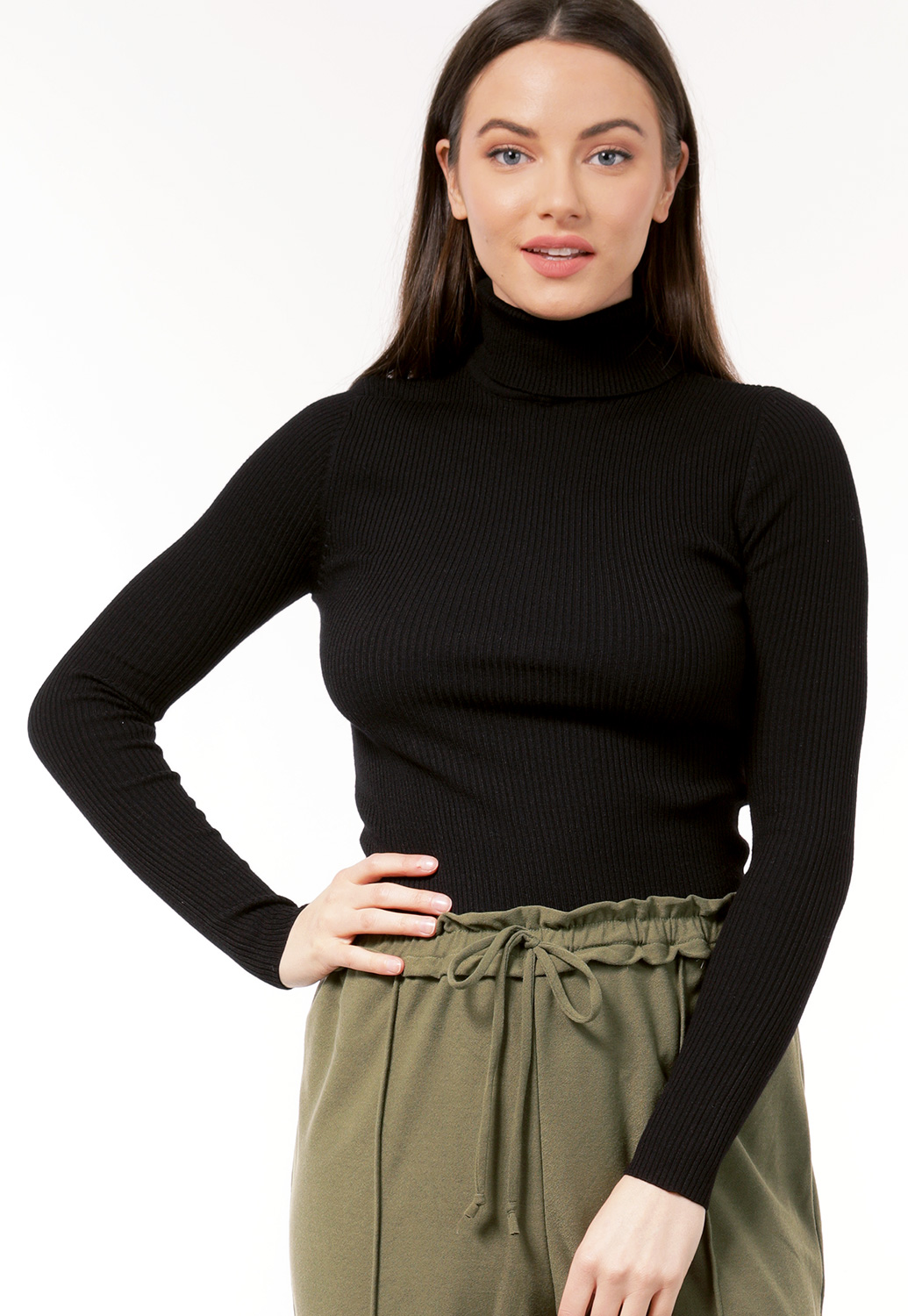 Ribbed Knit Turtleneck