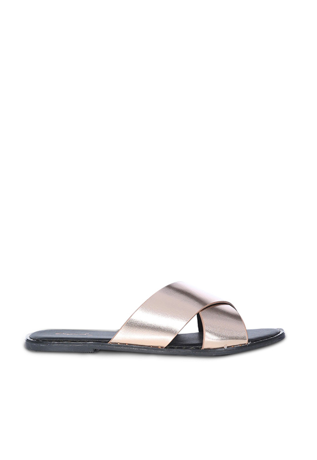 Qupid Faux Leather Slide Sandals