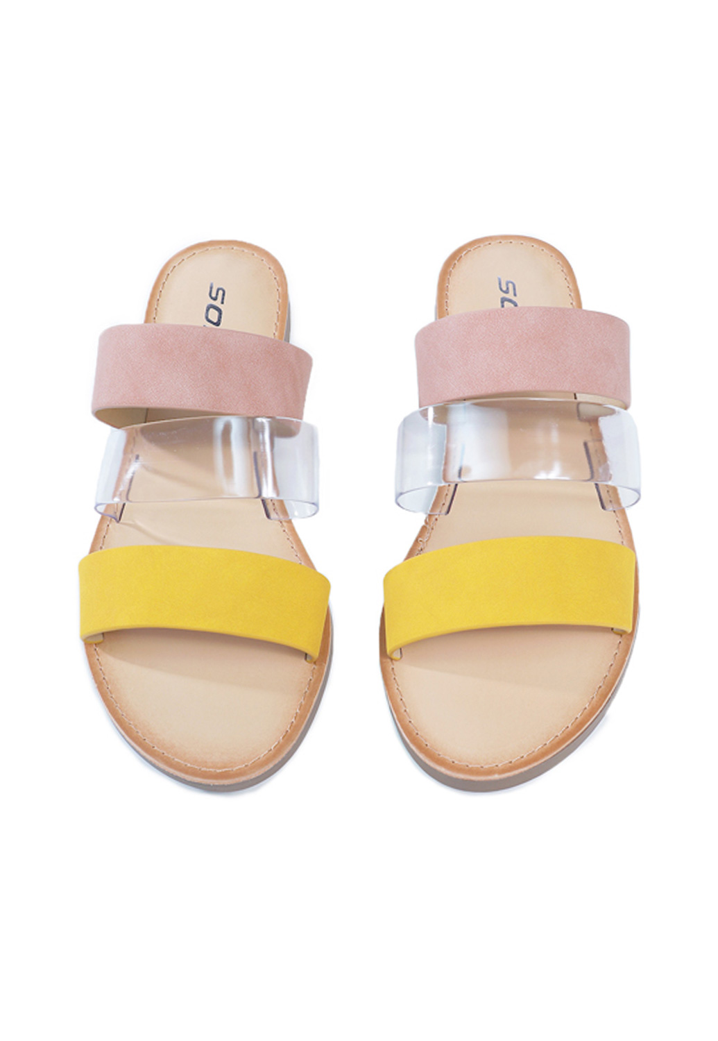 Summer Faux Leather Slides