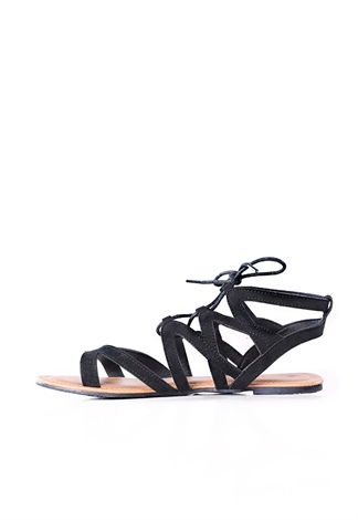 Lace-Up Wrap Sandals