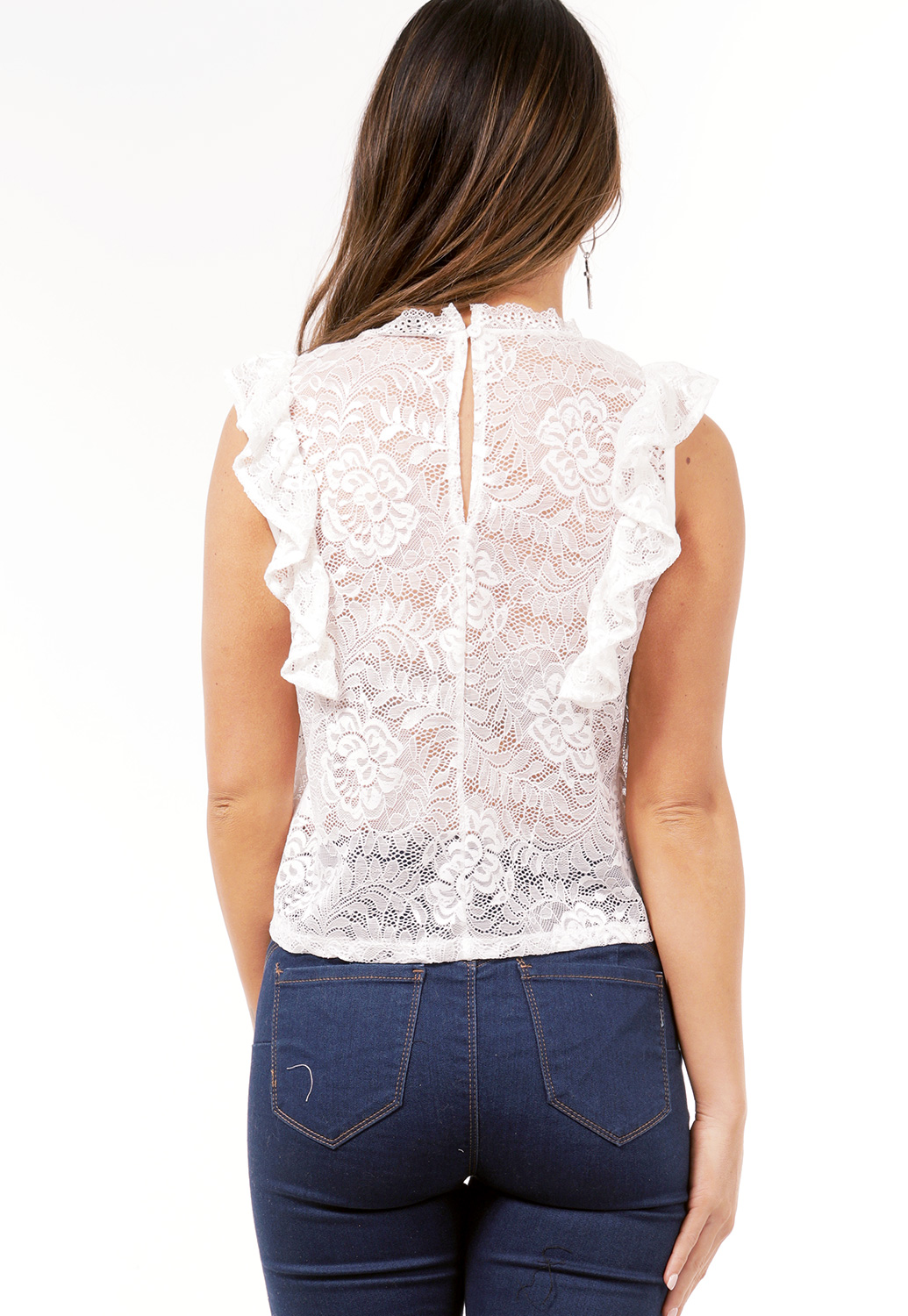 Sheer Floral Lace Top