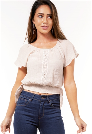 Crochet Tie Side Crop Top