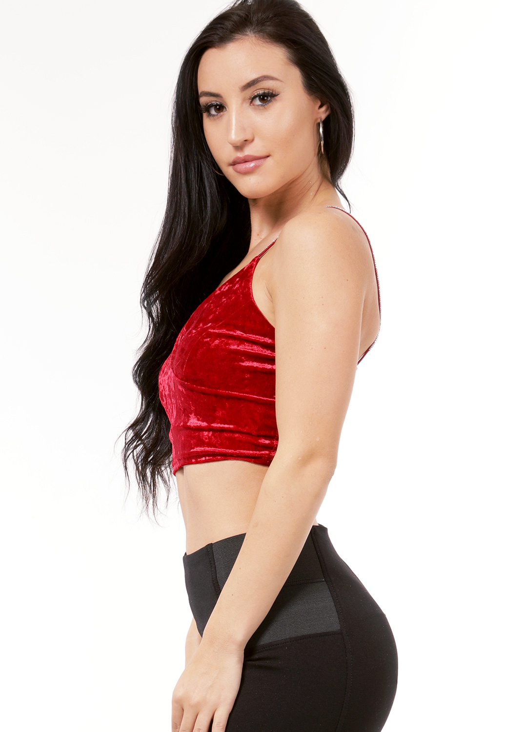 Crush Velvet Crop Top