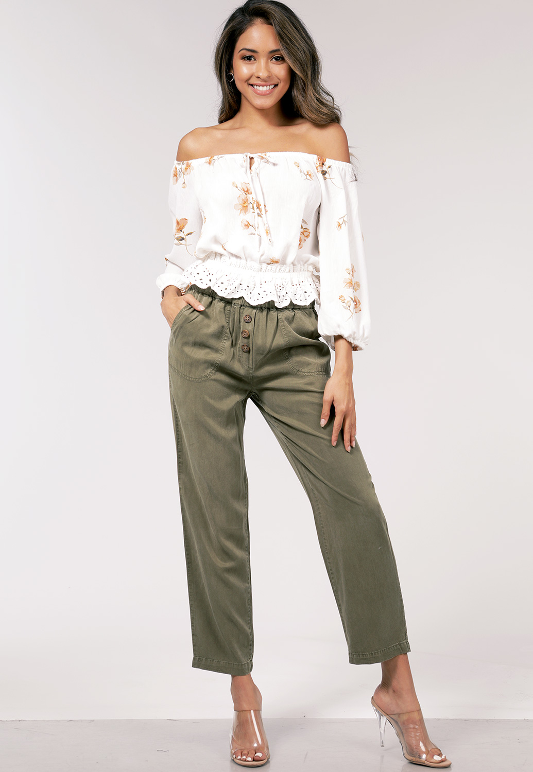 High Waisted Casual Pants