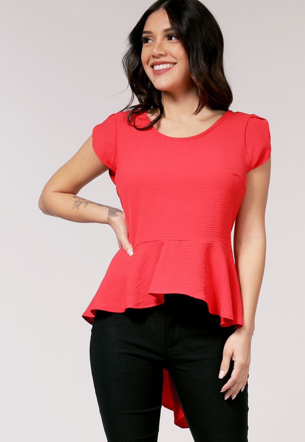 High Low Neon Dressy Top