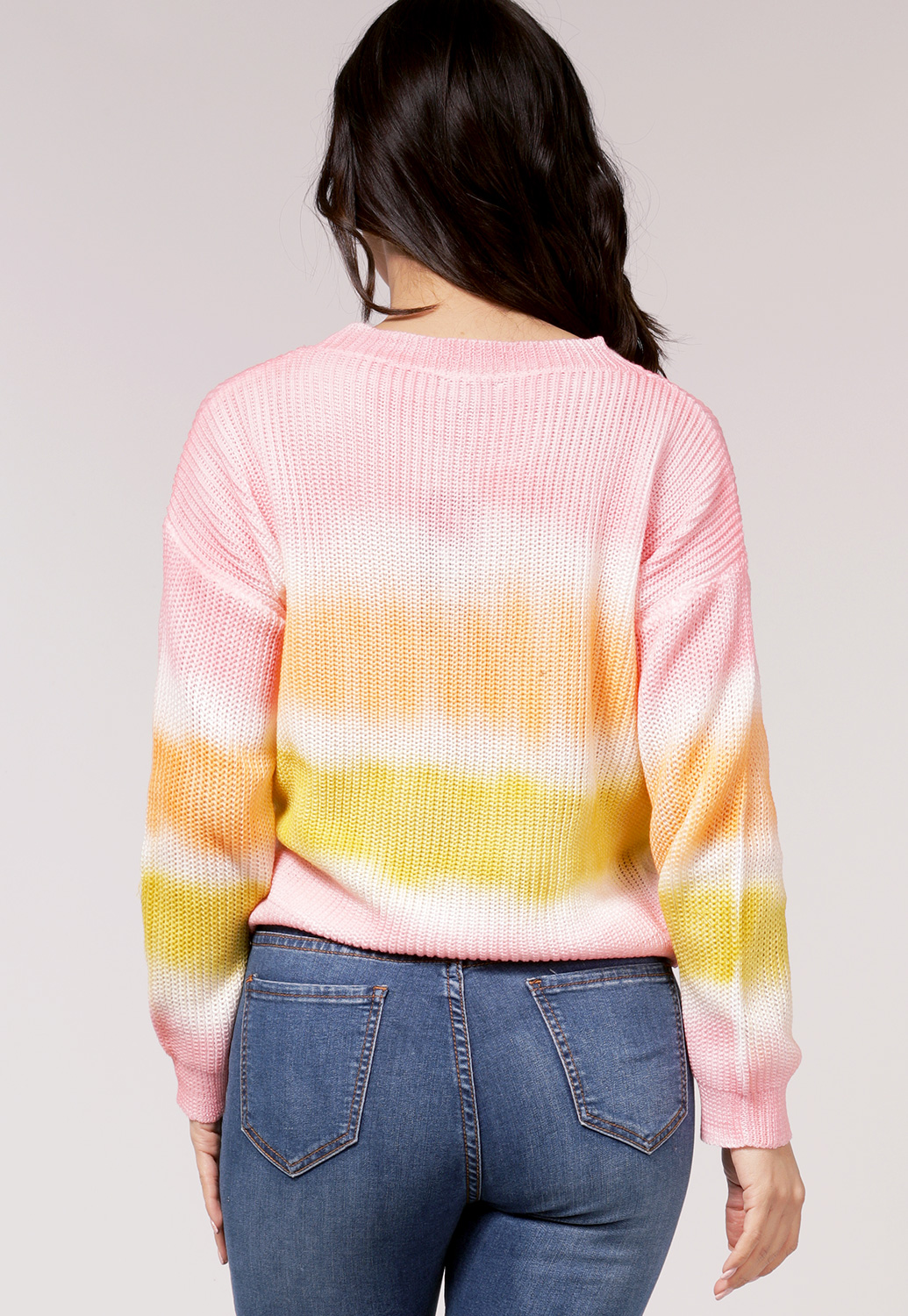 Cotton Candy Color Sweater