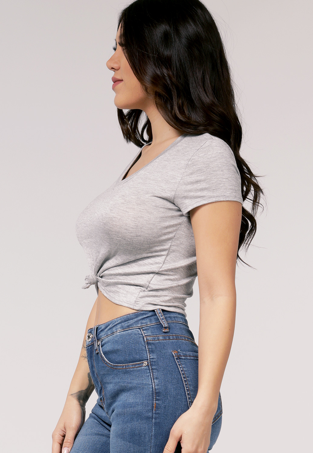 Front Knotted Casual Top