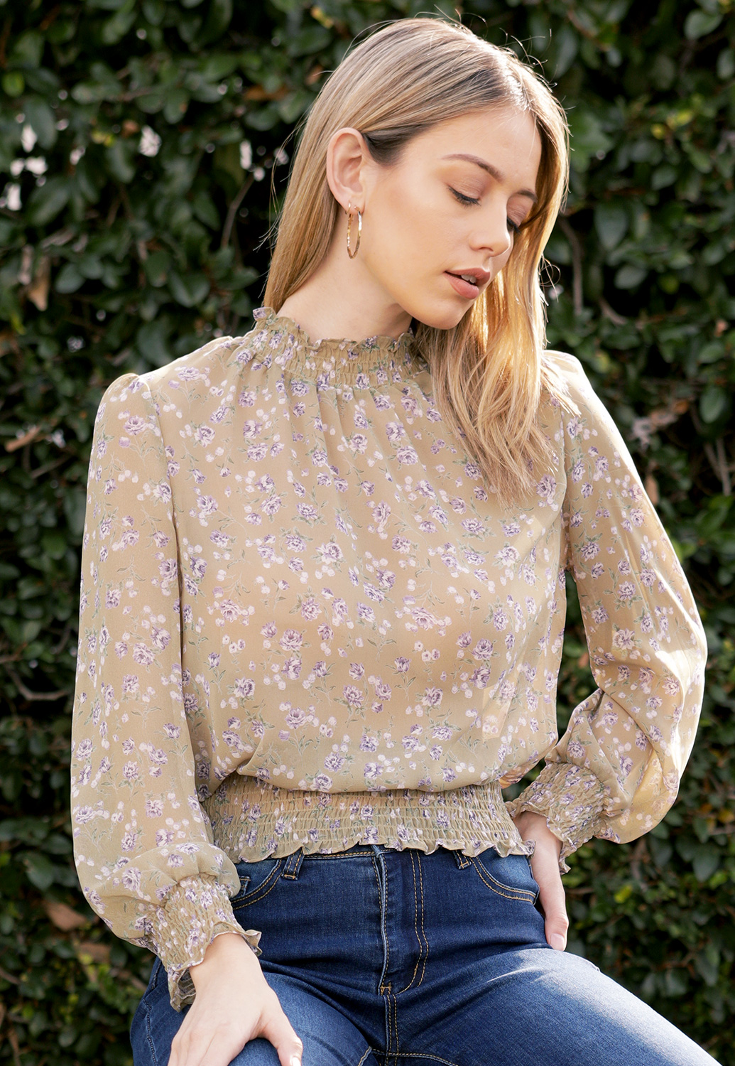 Floral Dressy Blouses Top