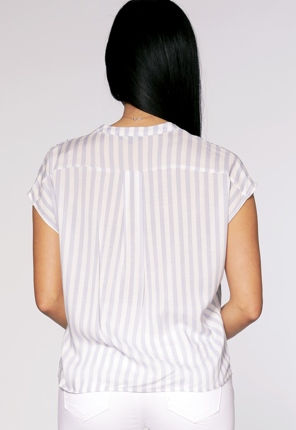 Pinstriped Button Up Top