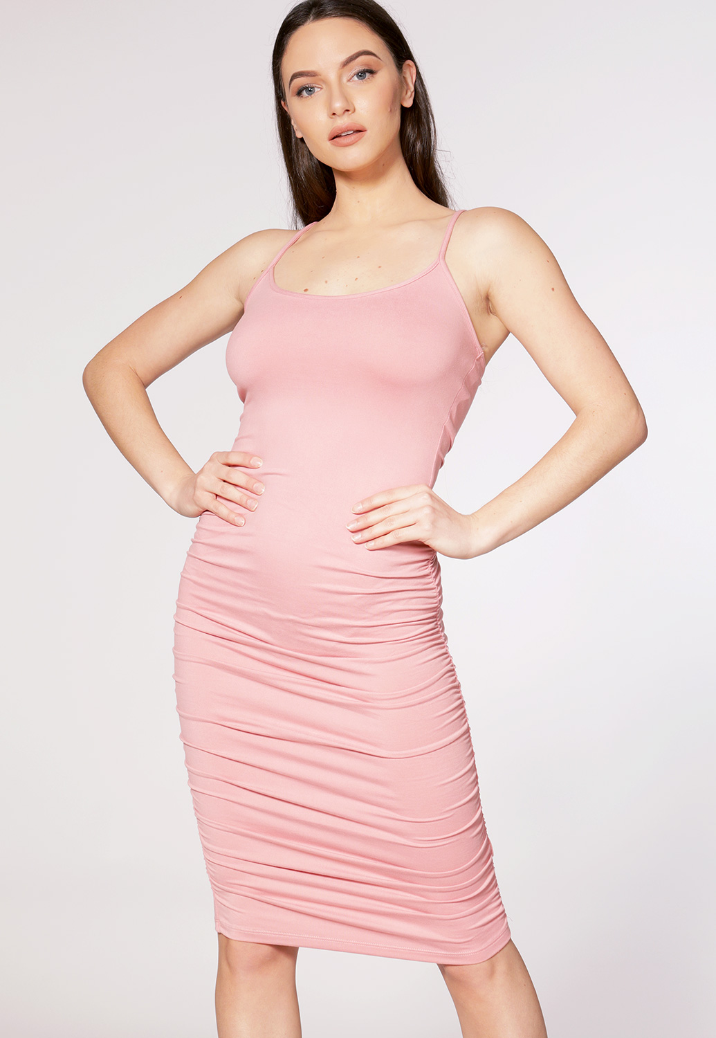Ruched Detai Bodycon Dress