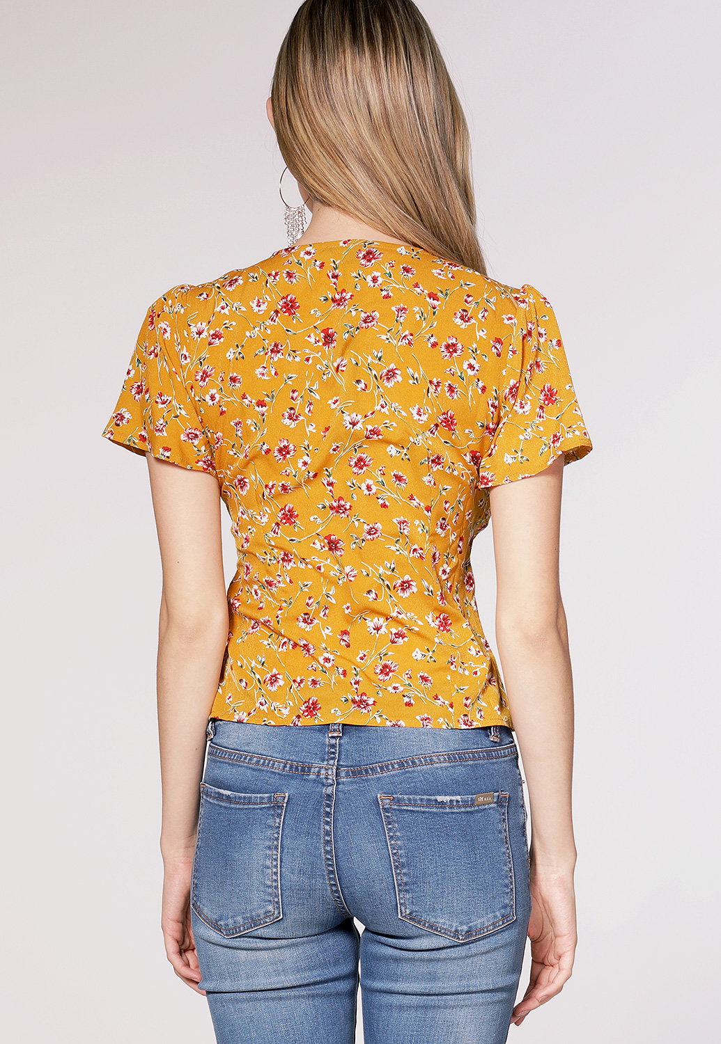 Floral Button Up Top