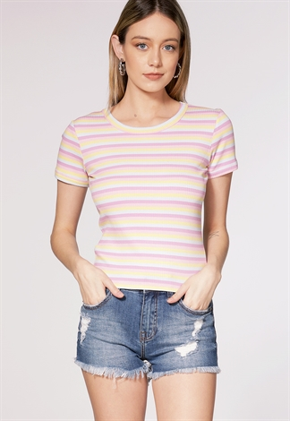 Striped Round Neck Top