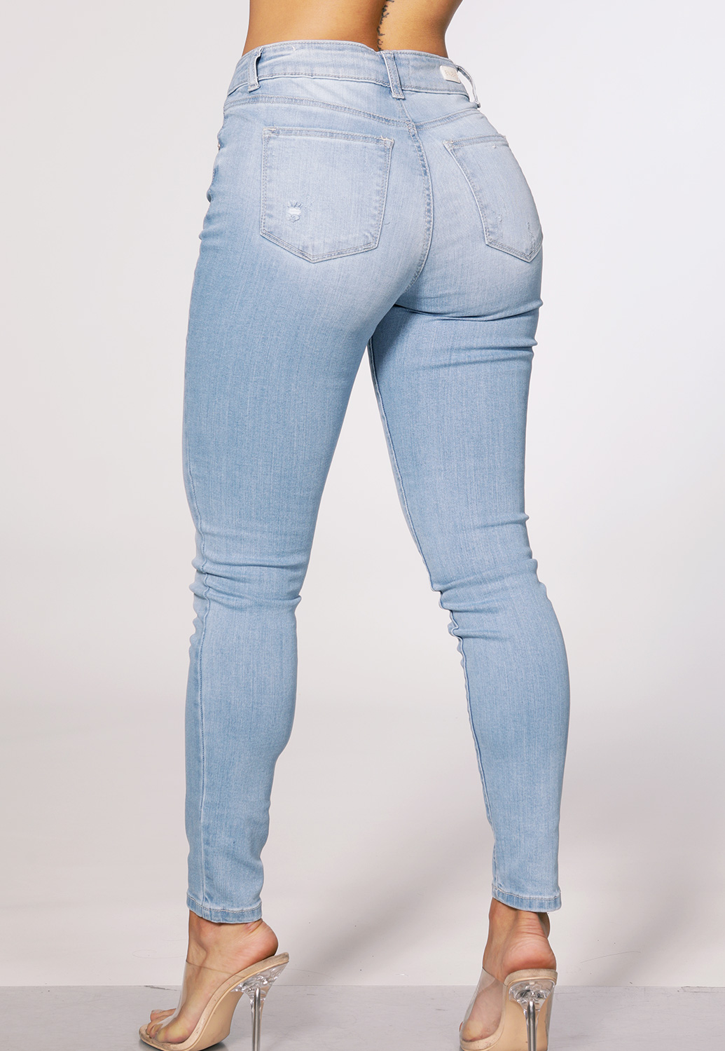 High Rise Destroyed Jeans