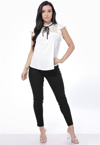 Belted Skinny Cropped Dressy Pants