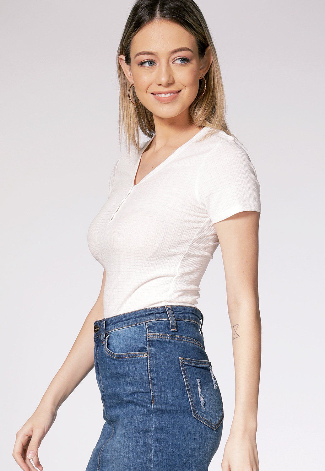 V Neck Casual Top