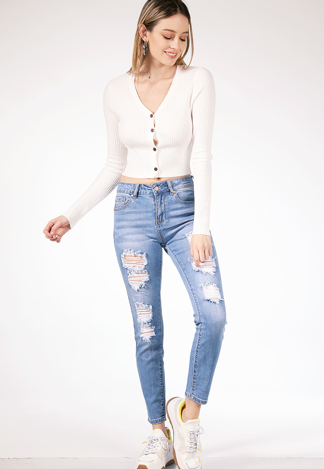 Distressed Denim Jean
