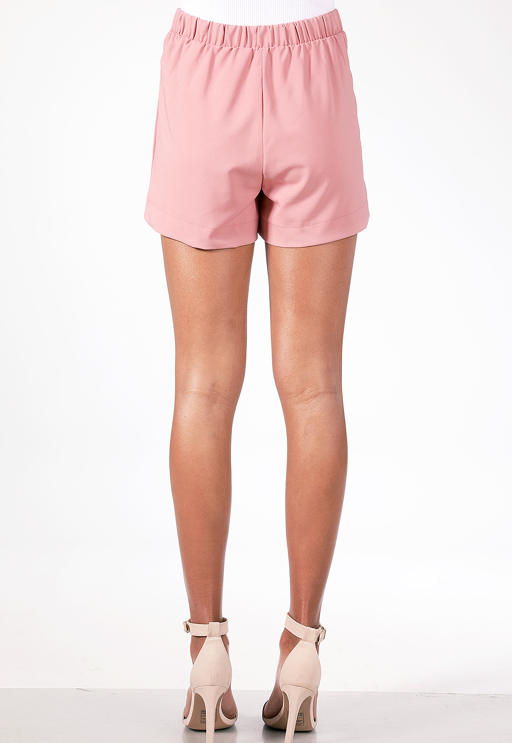 High-Waisted Tie-Front Shorts