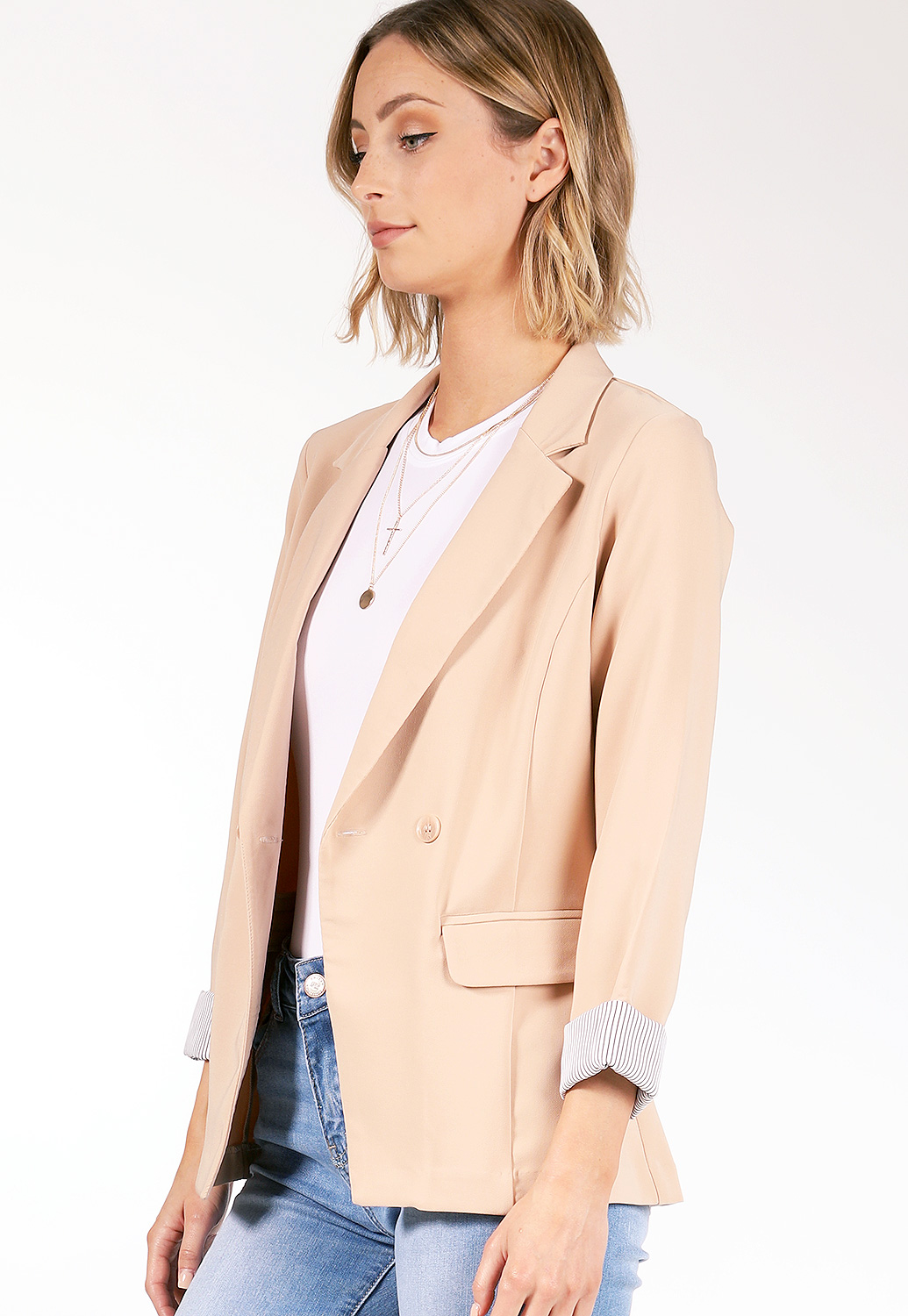 Two Button Detail Blazer