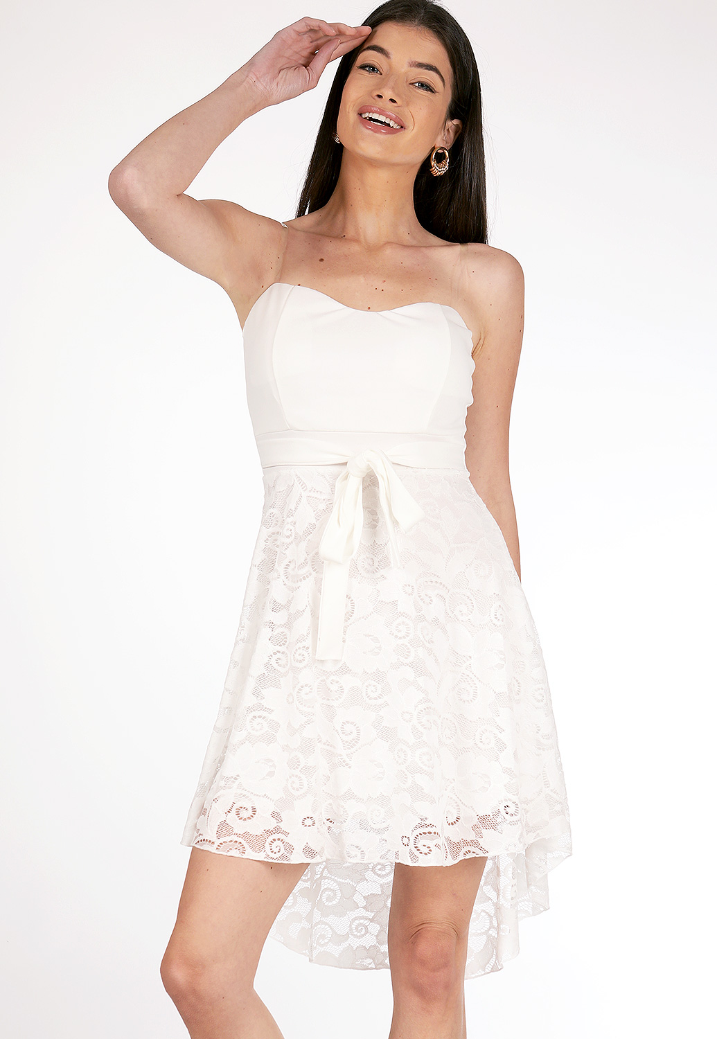 Lace Fit And Flare Mini Dress