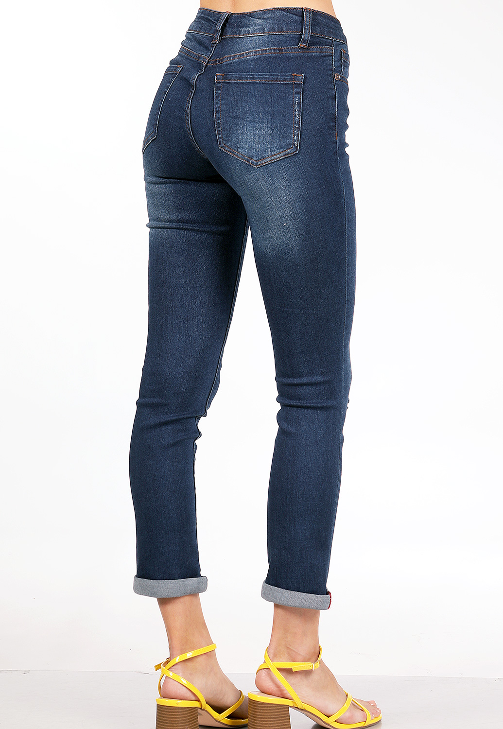 Distressed Mid Rise Jeans
