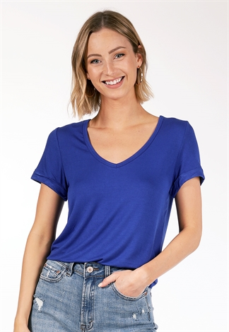 V Neck Basic Top