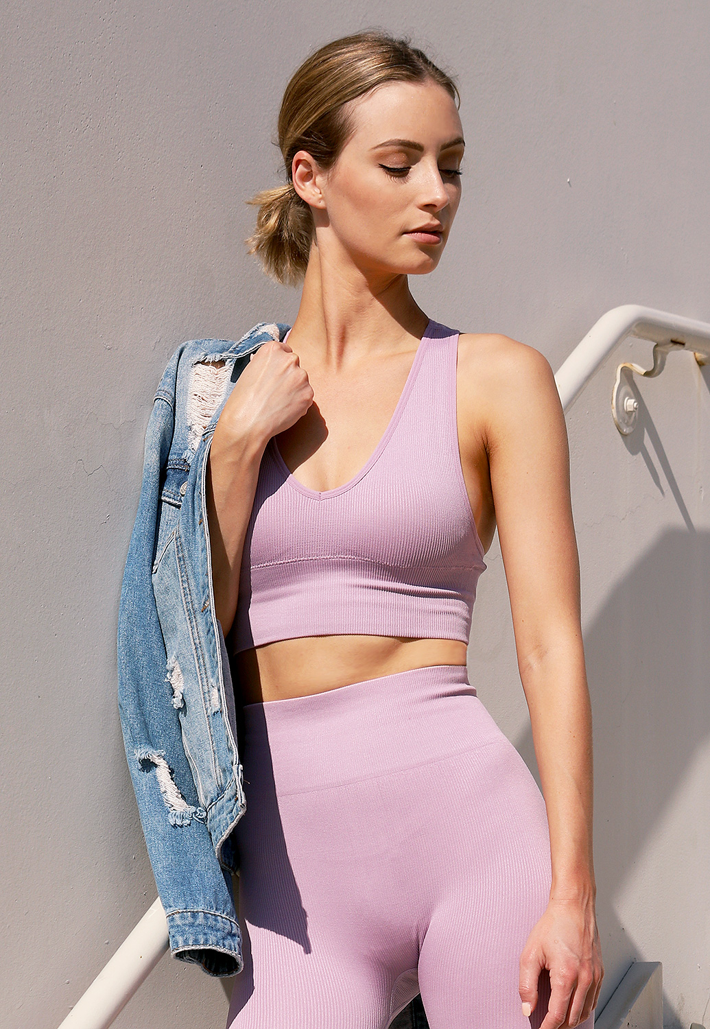 Ribbed Activewear Crop Top