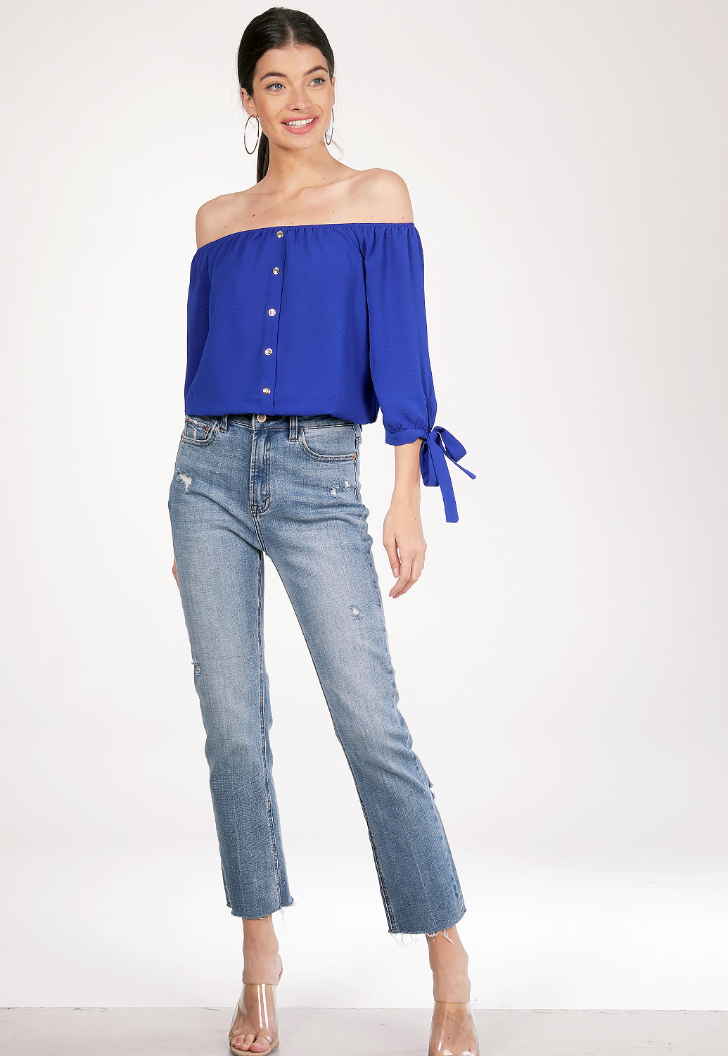 Off-The-Shoulder Blouse Top