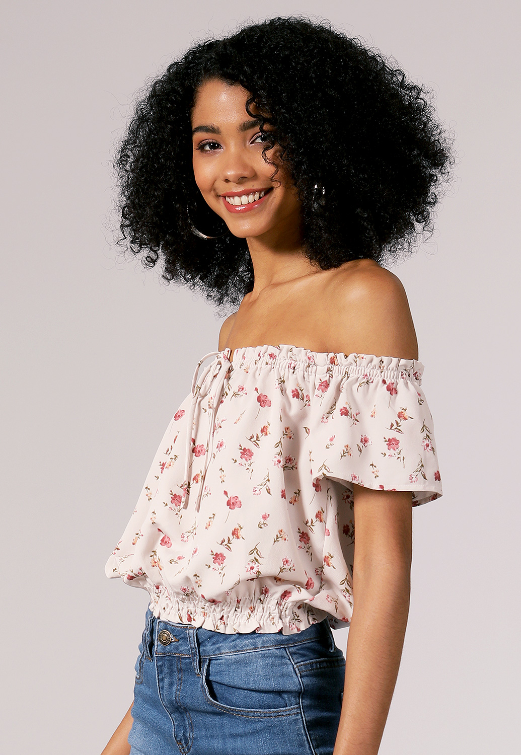 Off The Shoulder Floral Top
