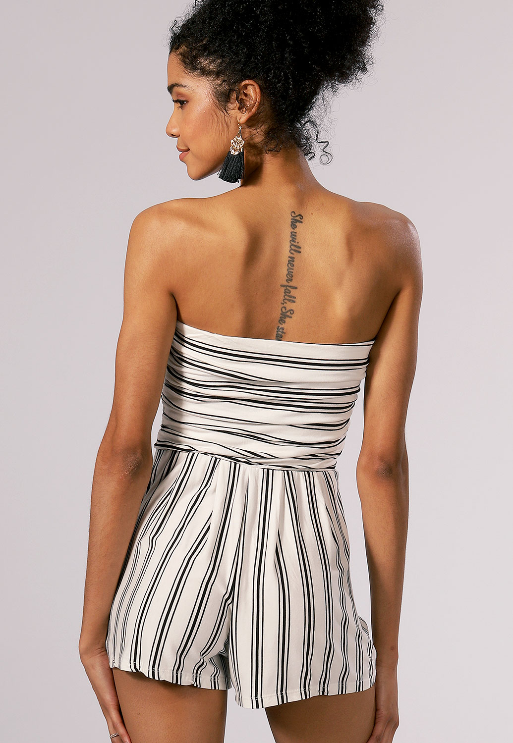 Pinstriped Romper