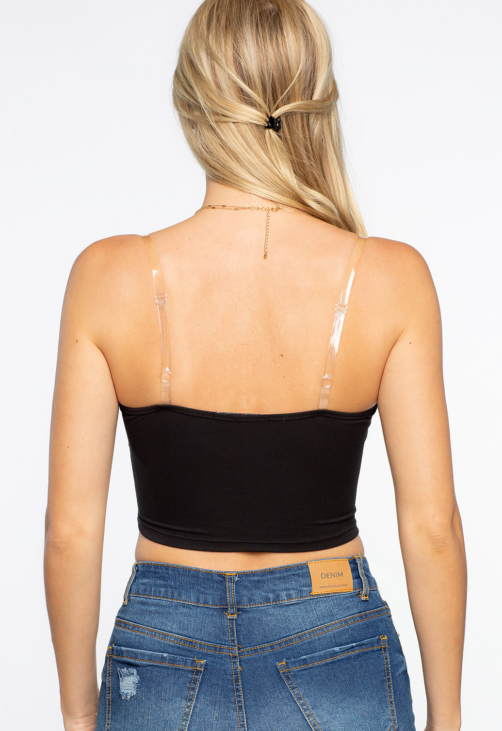 Clear Strap Crop To